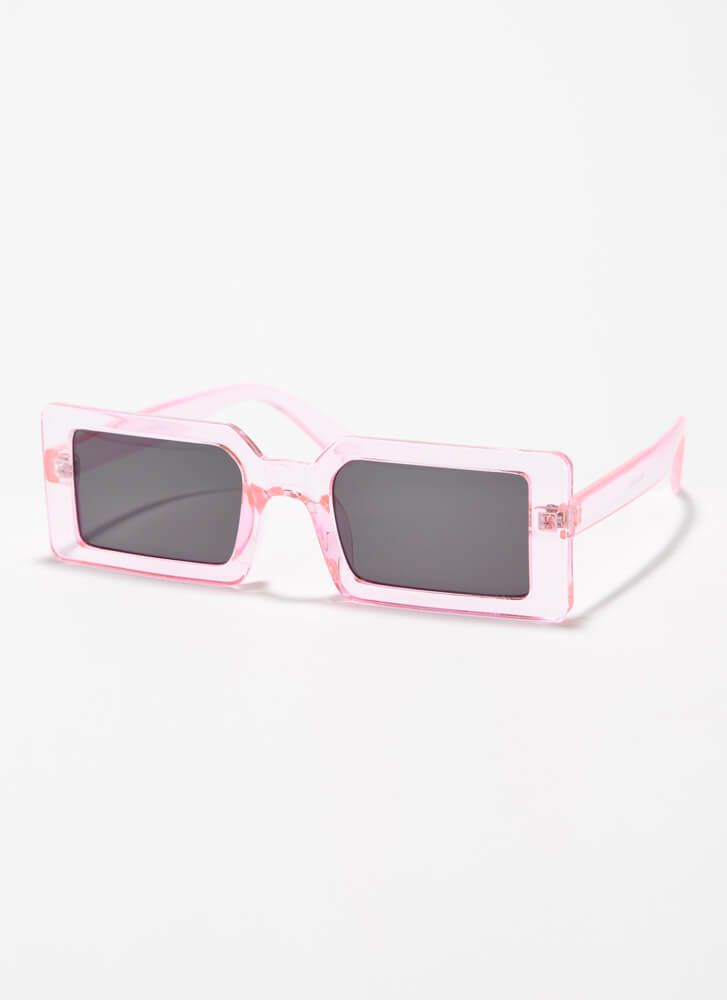 Clear Vision Rectangular Sunglasses PINK