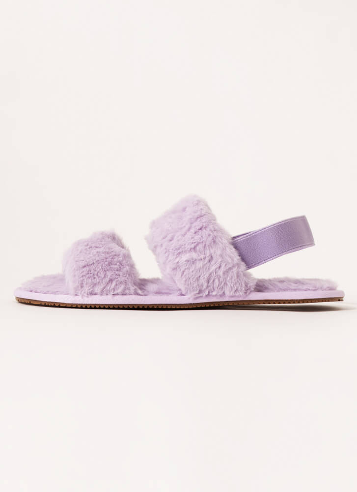 Furry Creatures Slingback Sandals LILAC