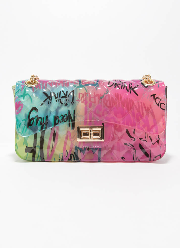 Graffiti Artist Airsprayed Jelly Purse MULTI