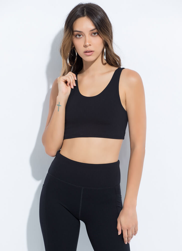 The Daily Grind Sports Bra Top BLACK