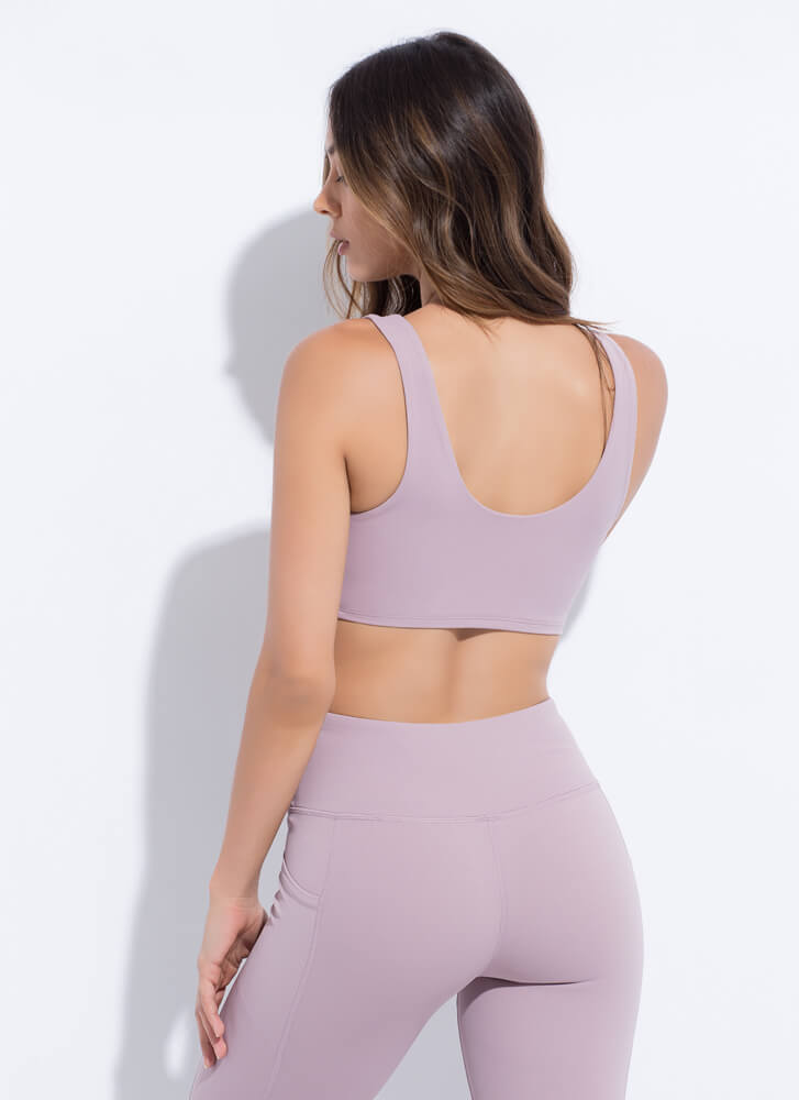 The Daily Grind Sports Bra Top MAUVE