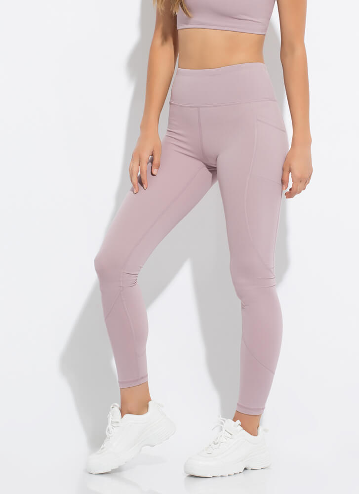The Daily Grind Pocketed Leggings MAUVE