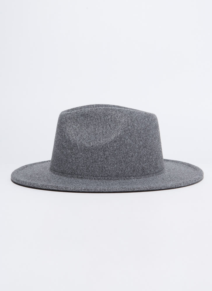 Top Of My Game Felted Fedora GREY