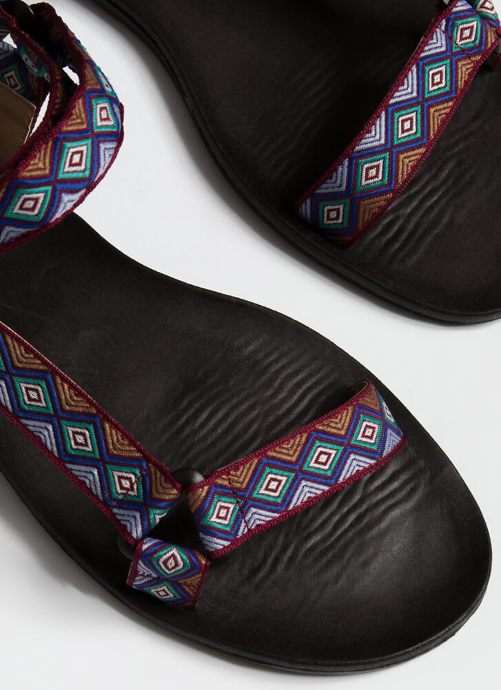 My Tribe Woven Strap Harness Sandals PURPLE