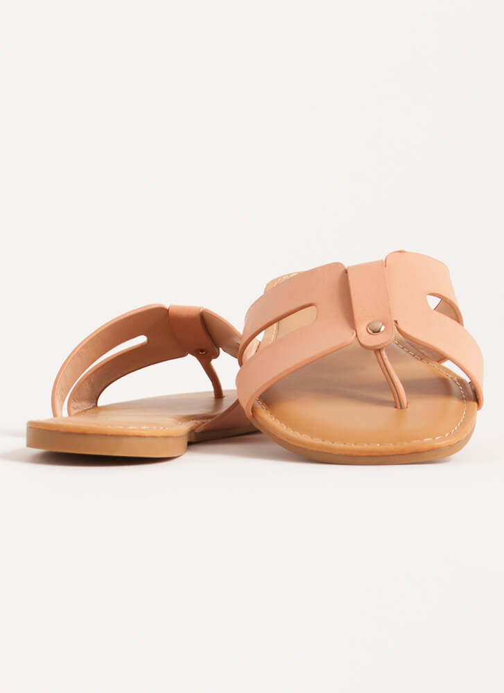 Butterfly Cut-Out Thong Sandals BLUSH
