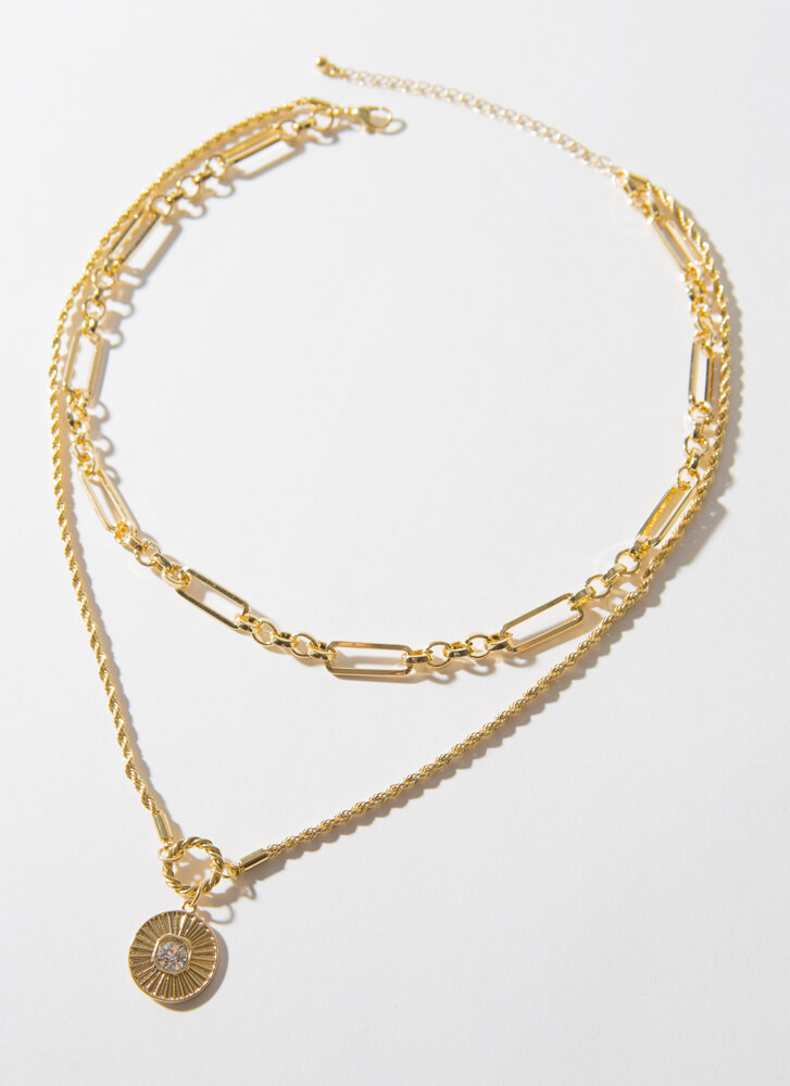 I Deserve A Medal Layered Chain Necklace GOLD