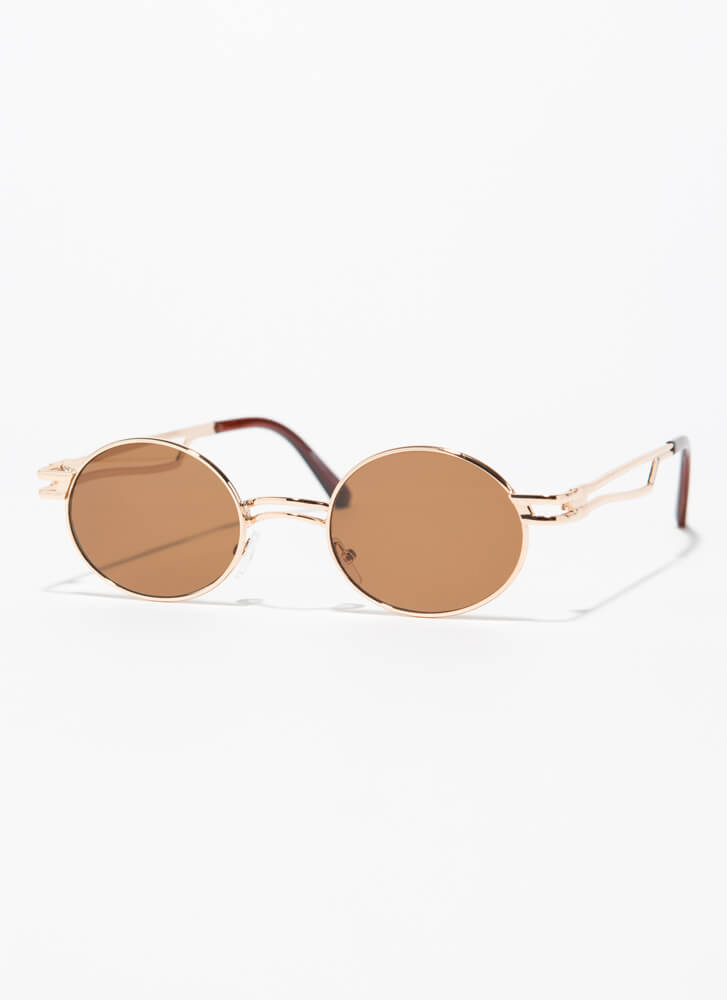 Poetry Reading Small Round Sunglasses BROWN