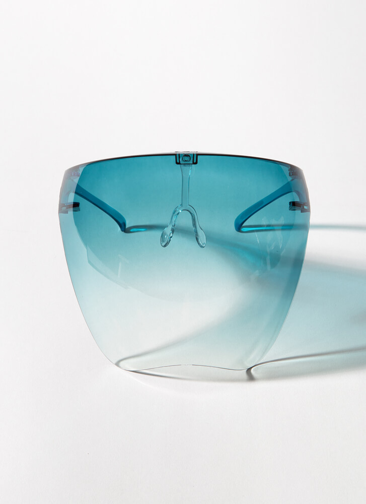 Cover Me Ombre Face Shield Glasses GREEN