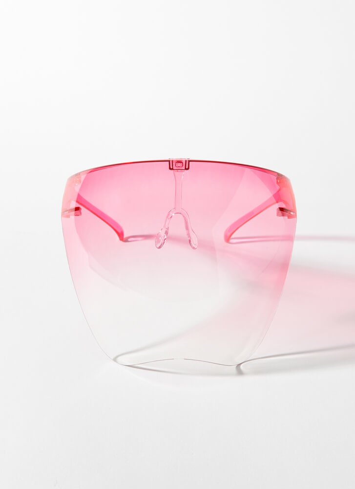 Cover Me Ombre Face Shield Glasses PINK