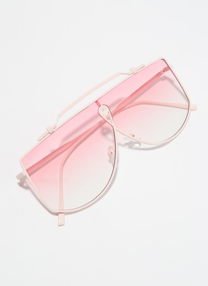 Wire Transfer Top Bar Sunglasses PINK