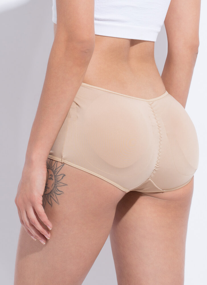 Booty Shorts Padded Butt Booster BEIGE