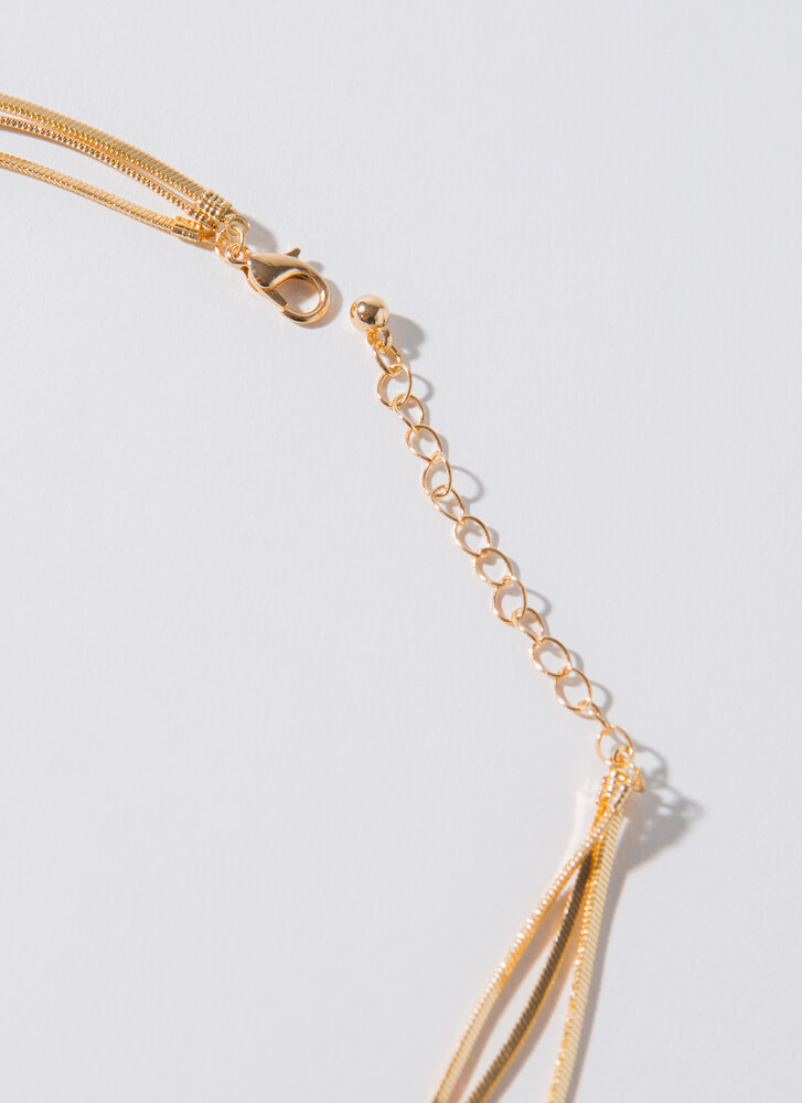 No-Brainer Snake Chain Necklace Set GOLD