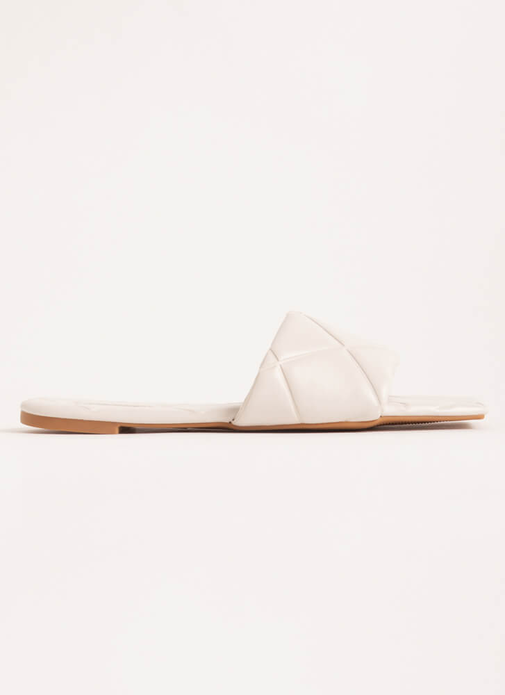 Tile Me About It Padded Slide Sandals IVORY