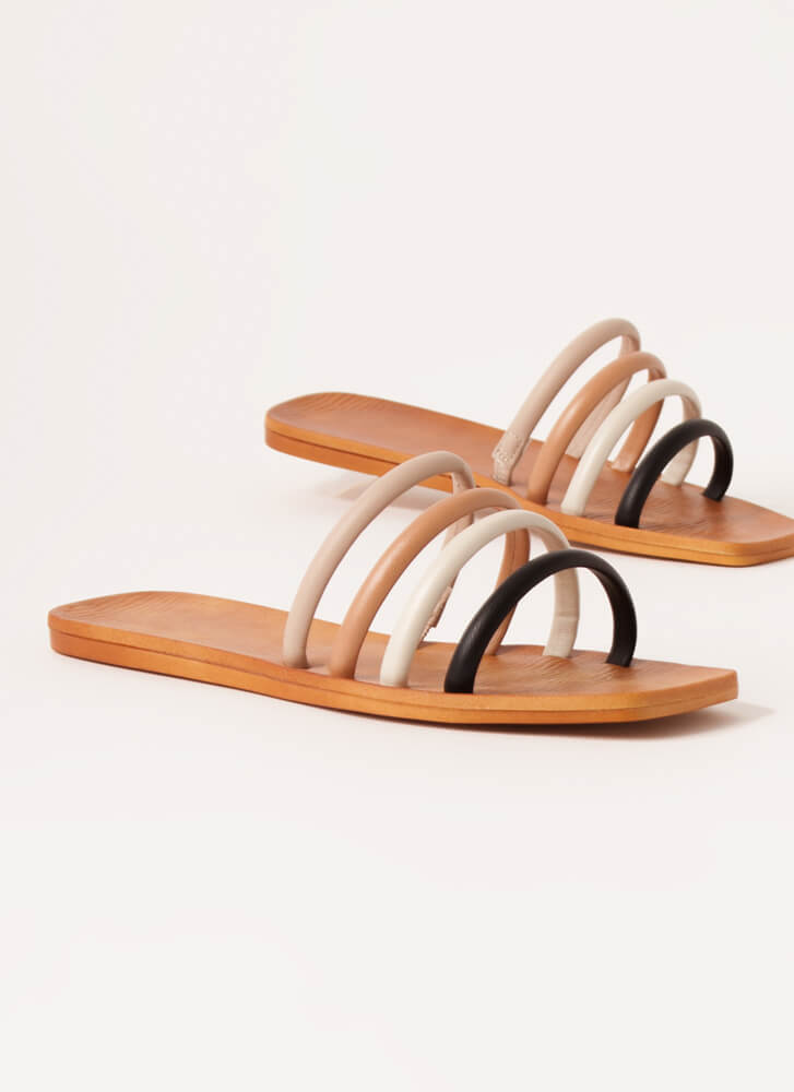 Ready 4 The Weekend Cord Strap Sandals BLACK