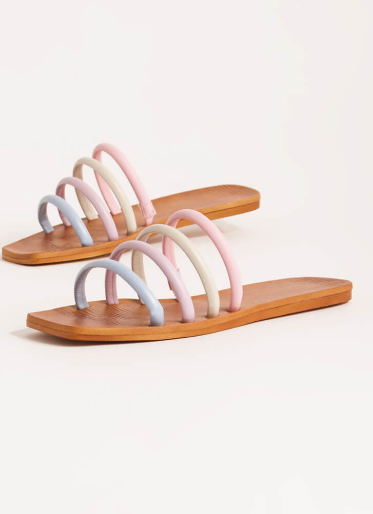 Ready 4 The Weekend Cord Strap Sandals PASTEL