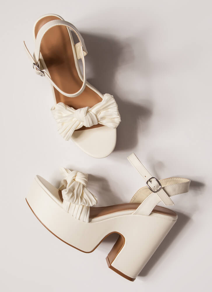 Bow Out On A High Super Chunky Platforms IVORY