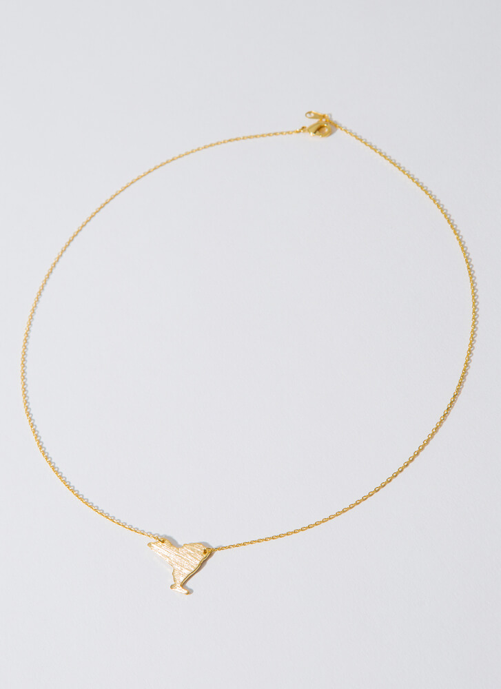 New York Babe Charm Necklace GOLD