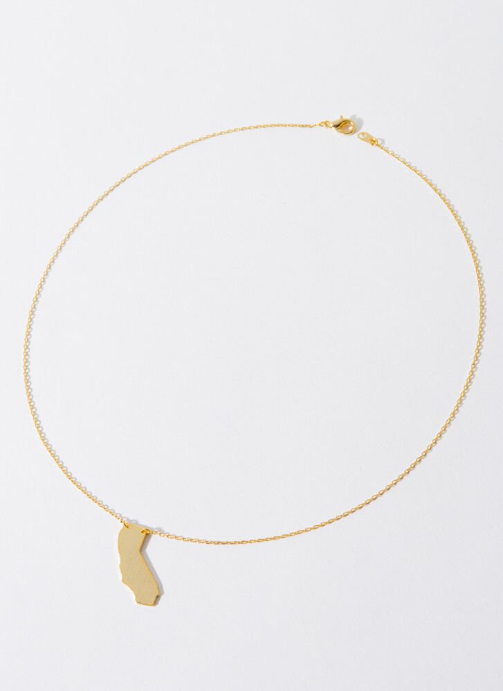 California Babe Charm Necklace GOLD