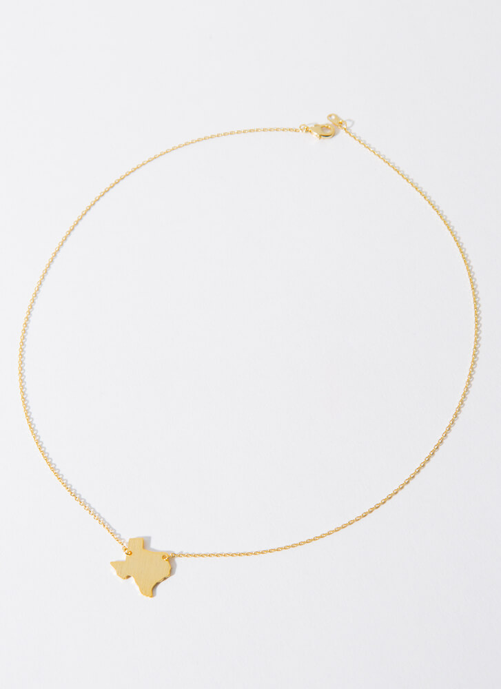 Texas Babe Charm Necklace GOLD