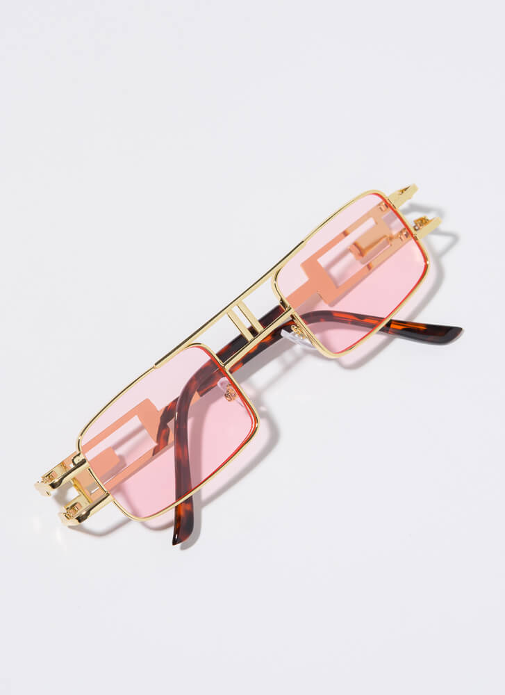 Outside The Box Cut-Out Sunglasses PINK
