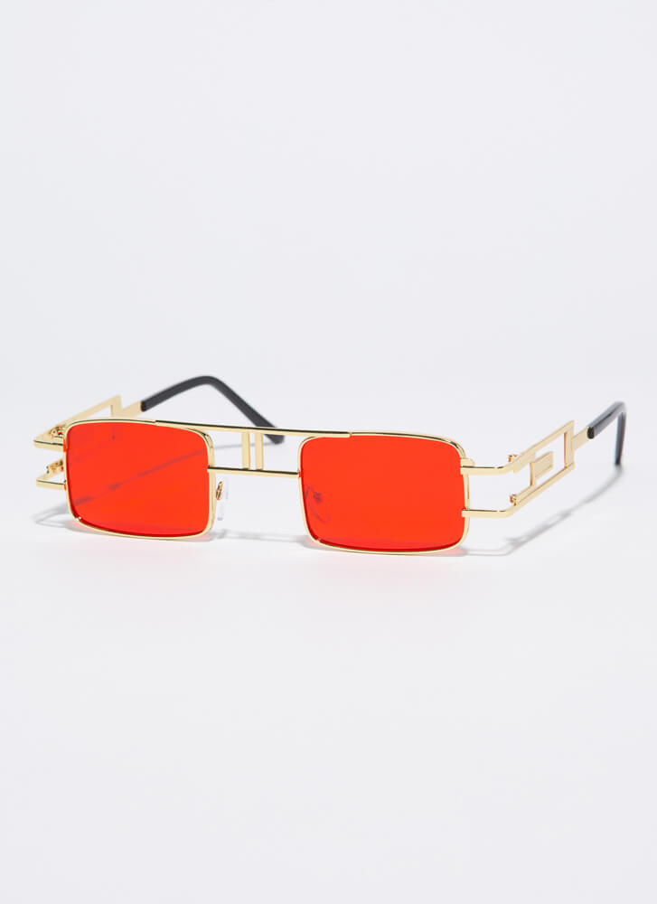 Outside The Box Cut-Out Sunglasses RED