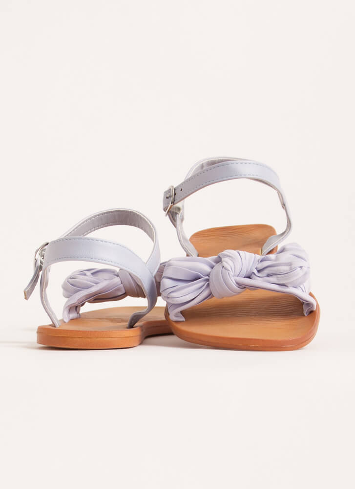 Bow You Knotted Pleated Sandals BABYBLUE