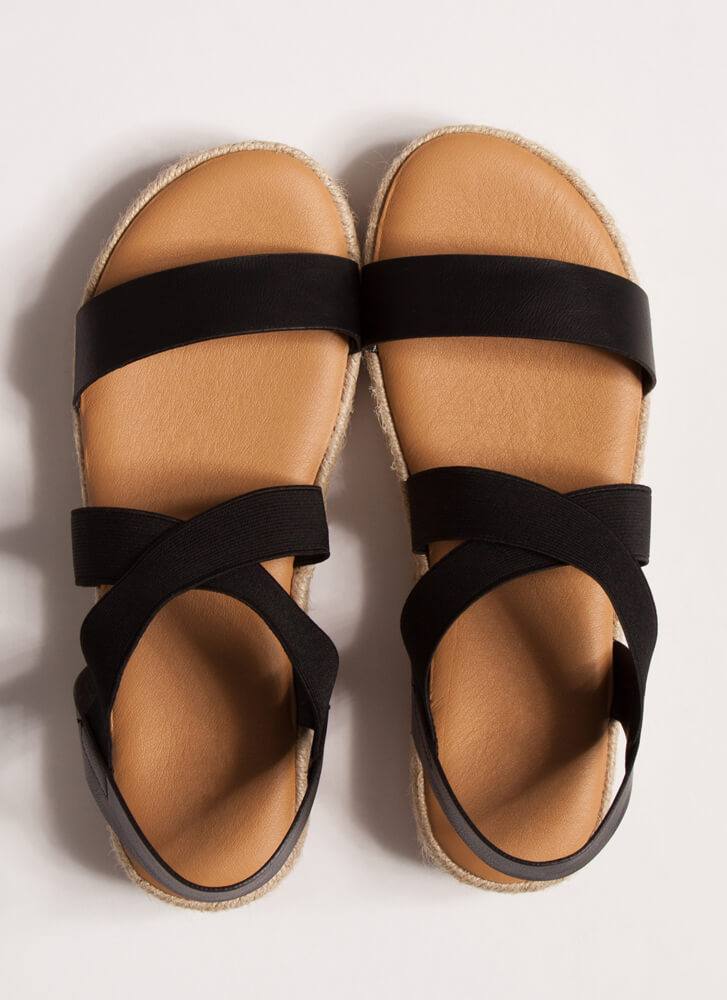 Great Outdoors Banded Braided Sandals BLACK