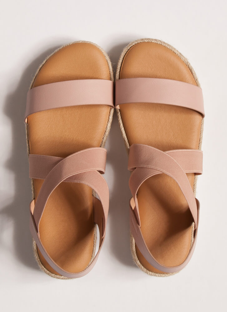 Great Outdoors Banded Braided Sandals BLUSH