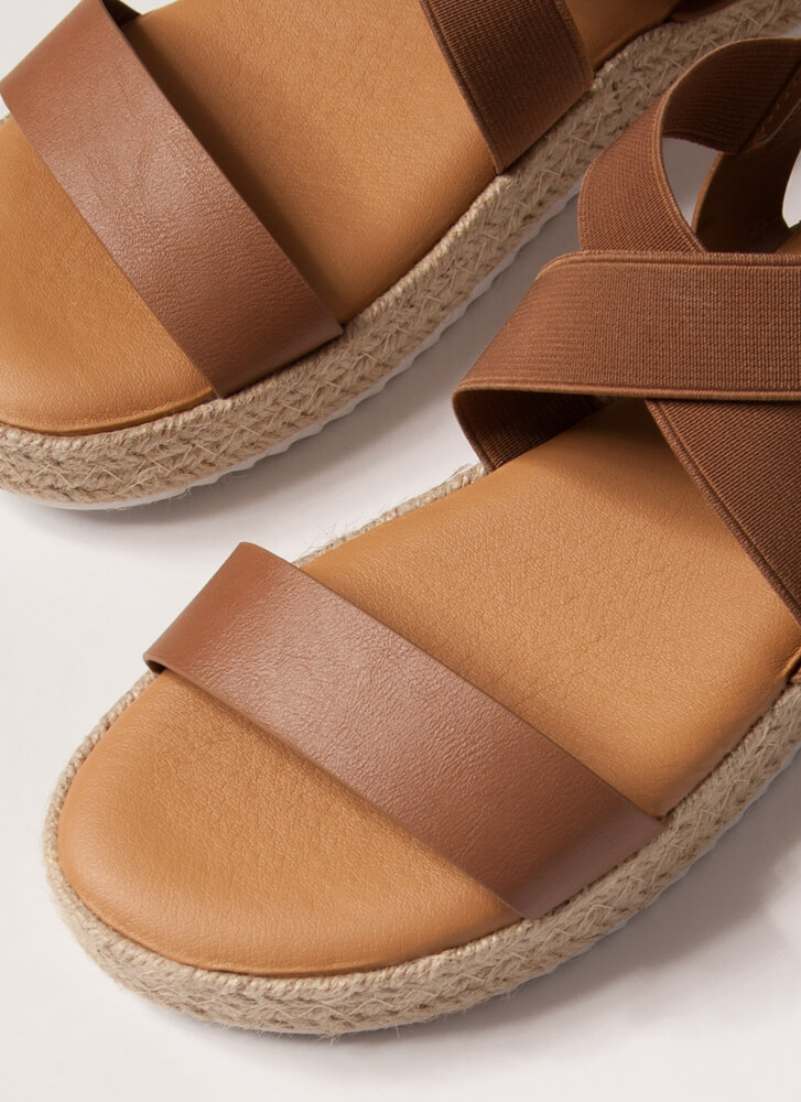 Great Outdoors Banded Braided Sandals TAN