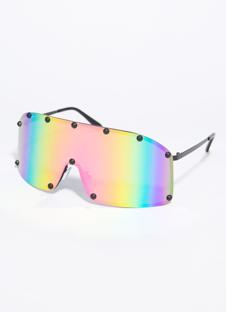 Sun And Sport Studded Goggle Sunglasses PINK