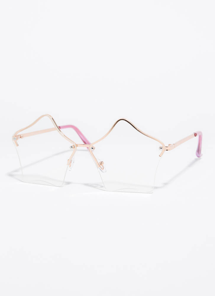 Stars In Your Eyes Sunglasses CLEAR