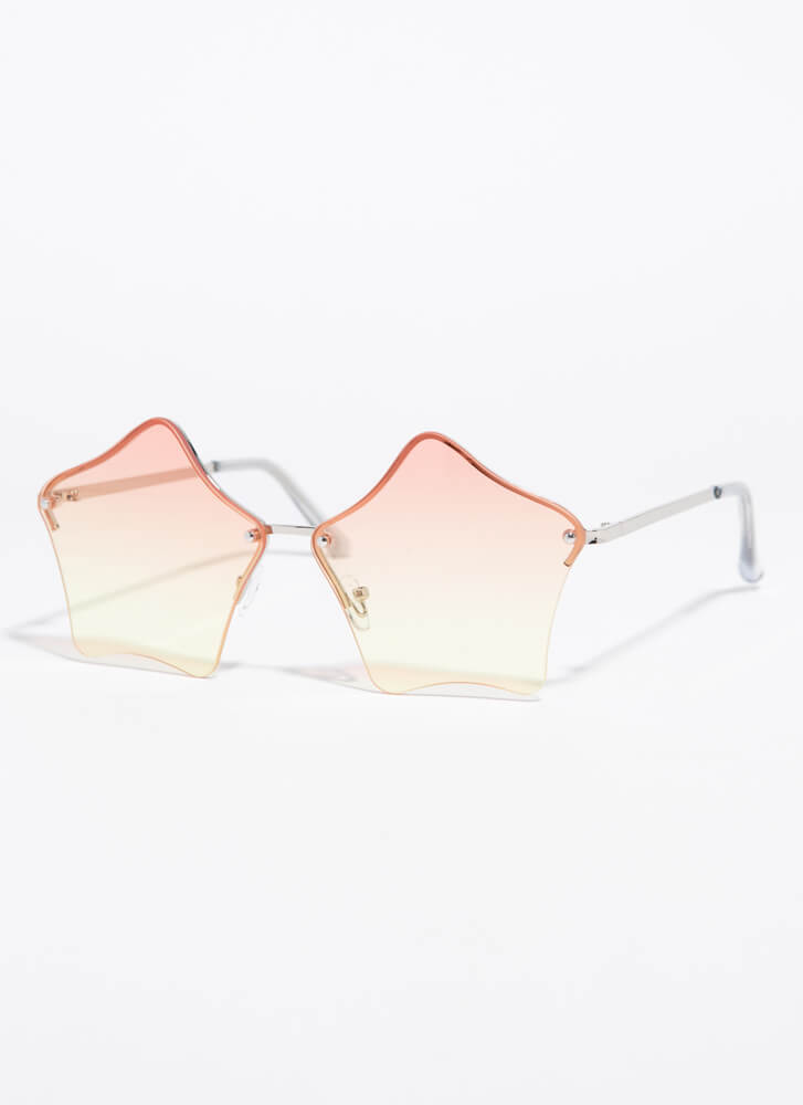 Stars In Your Eyes Sunglasses PEACH
