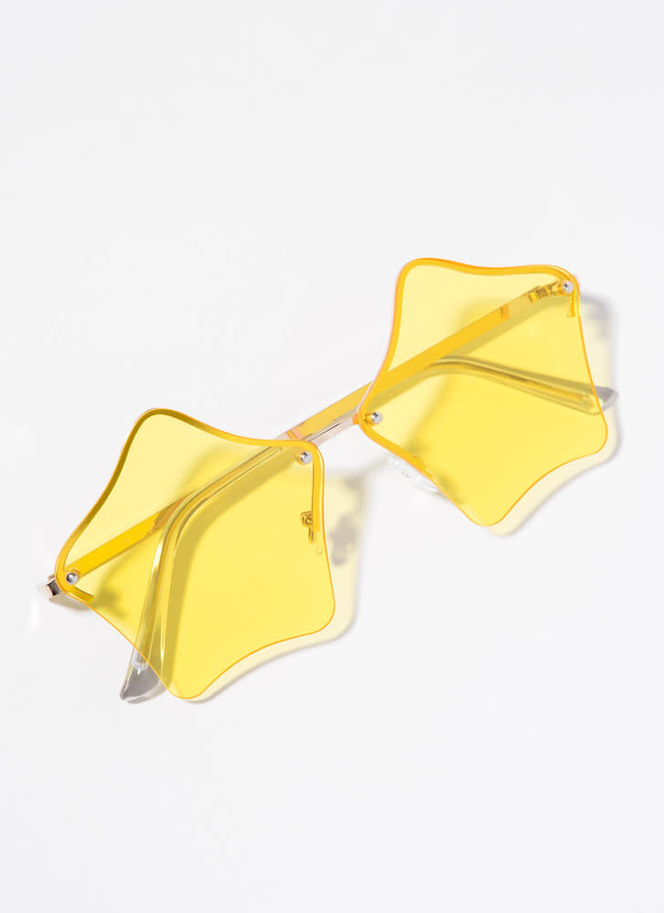 Stars In Your Eyes Sunglasses YELLOW