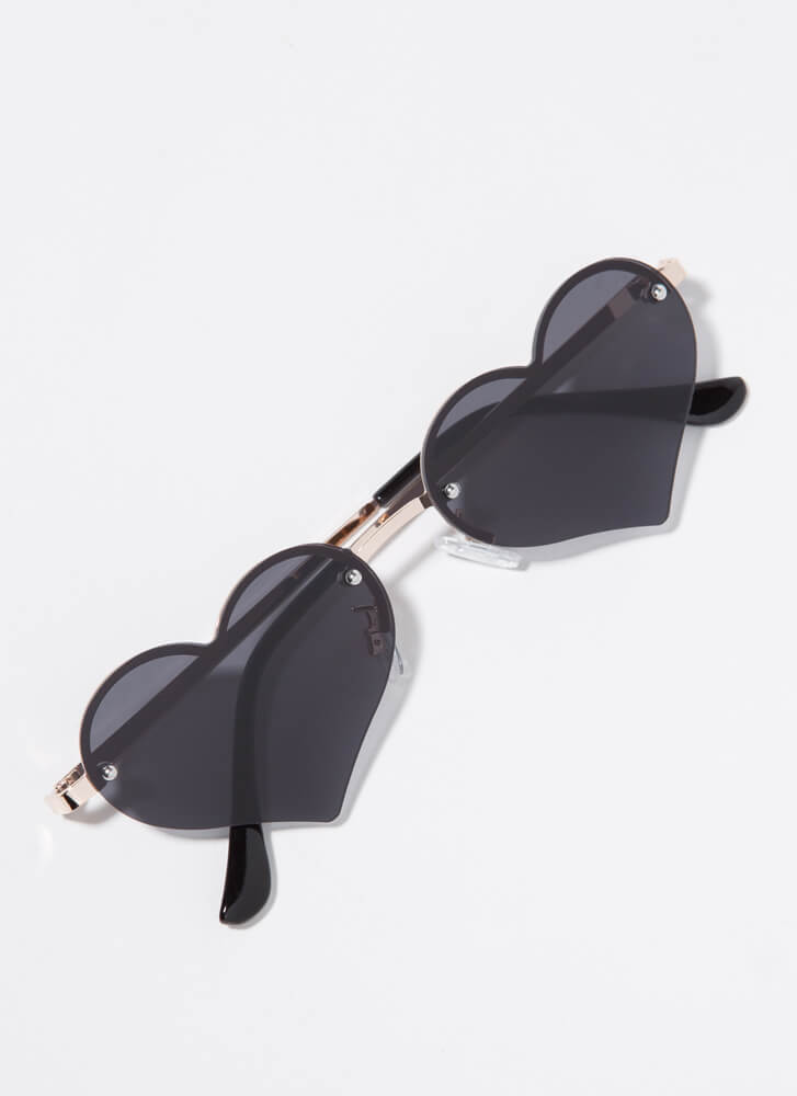 Only Have Heart Eyes For You Sunglasses BLACK