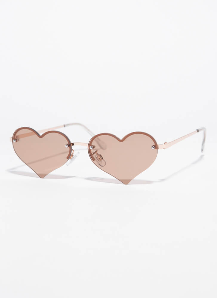 Only Have Heart Eyes For You Sunglasses BROWN