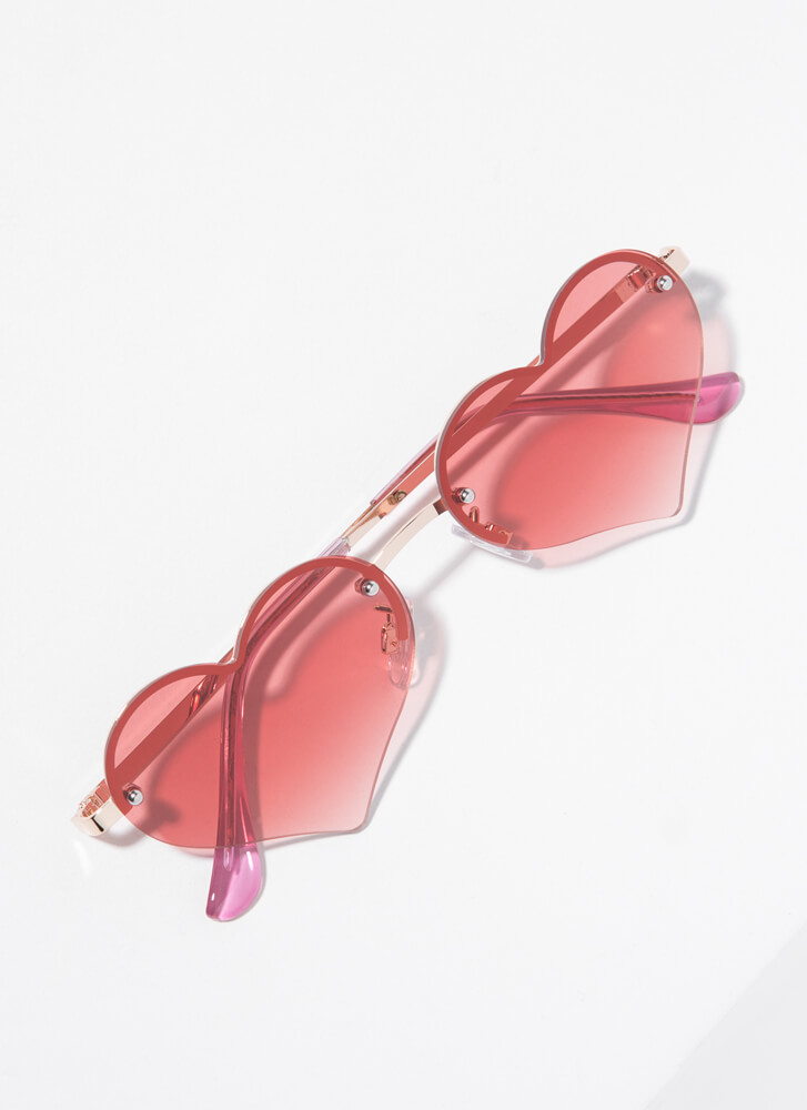 Only Have Heart Eyes For You Sunglasses ROSE