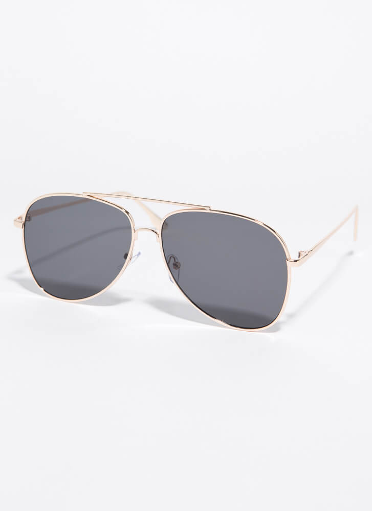 Fly With Me Aviator Sunglasses BLACKGOLD