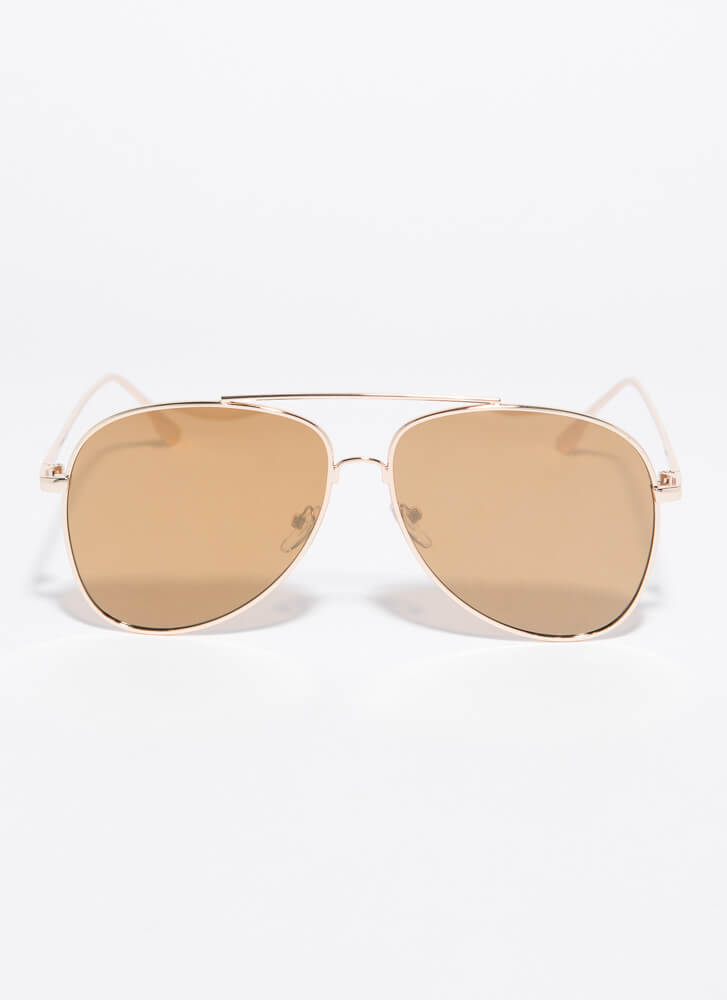 Fly With Me Aviator Sunglasses BROWN
