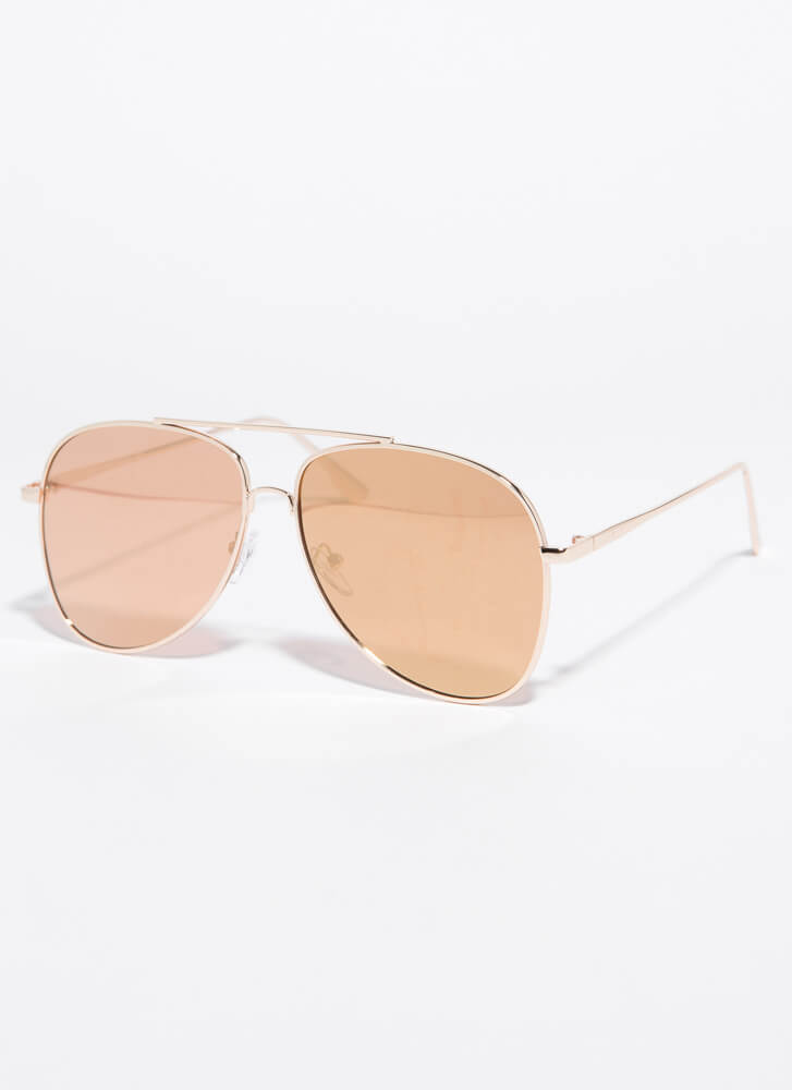 Fly With Me Aviator Sunglasses ROSE