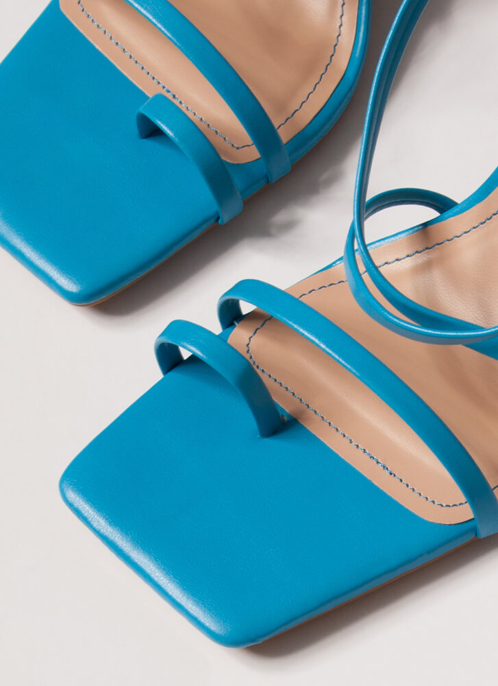 Night Out On The Town Strappy Heels TURQUOISE