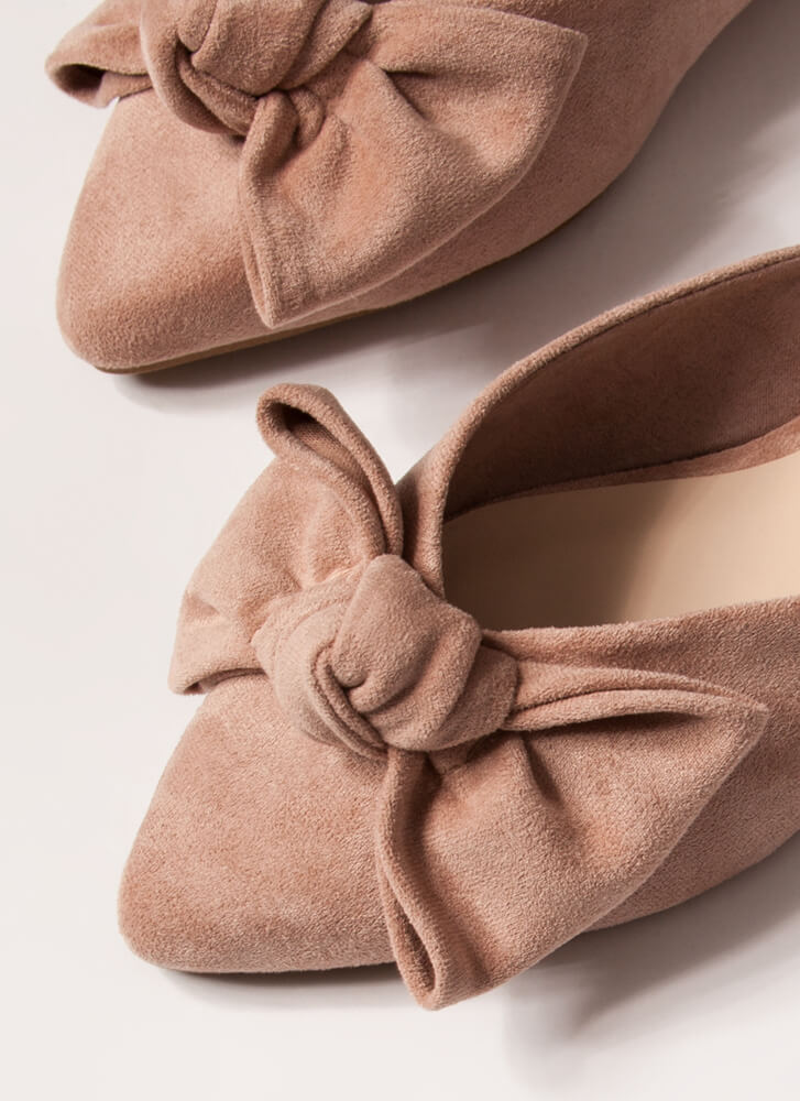Wrapped With A Bow Pointy Mule Flats DESERTROSE