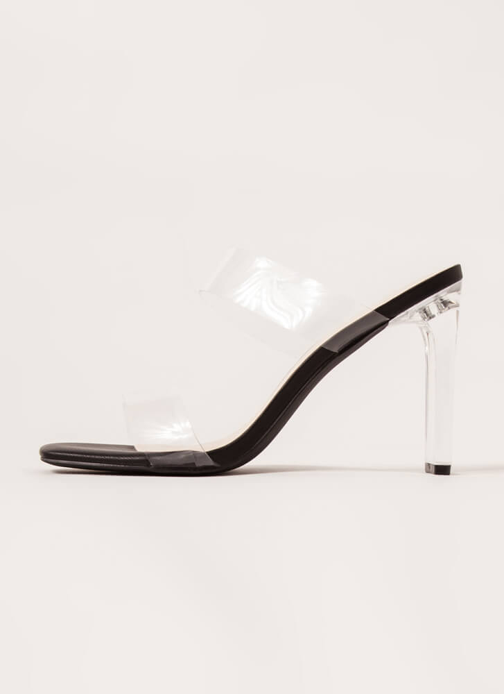 I Can See Clearly Now Lucite Heels BLACK