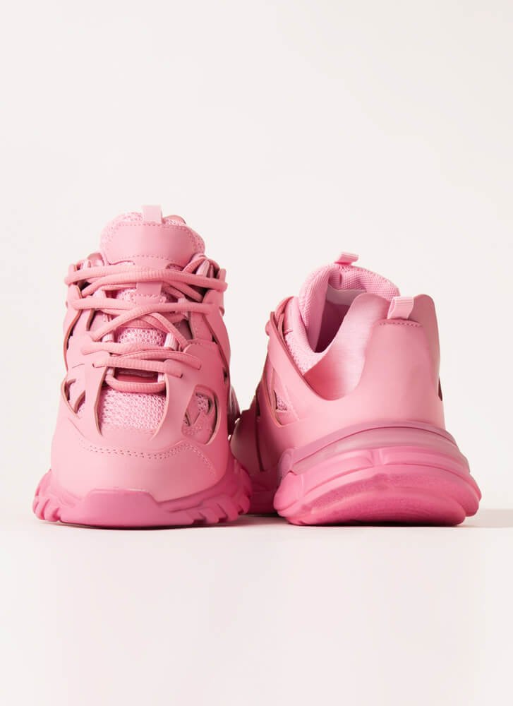 The Layers Club Sporty Tonal Sneakers PINK