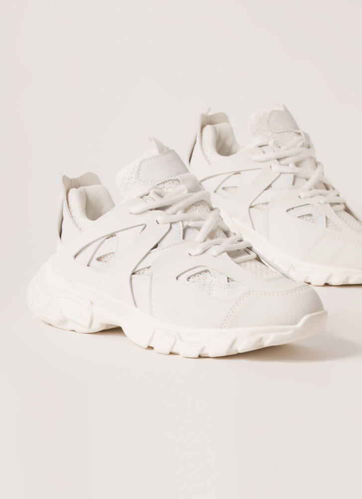 The Layers Club Sporty Tonal Sneakers WHITE