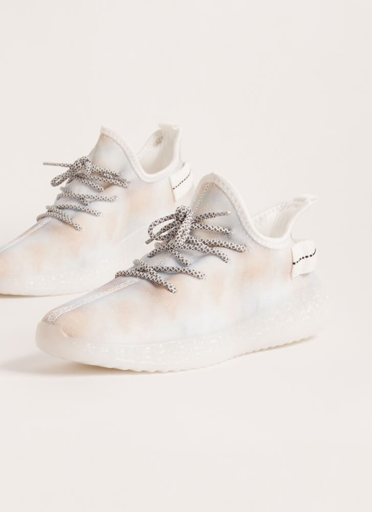 Play With Color Pull-On Tie-Dye Sneakers BEIGE