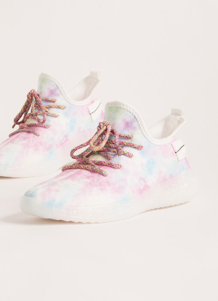 Play With Color Pull-On Tie-Dye Sneakers LILAC