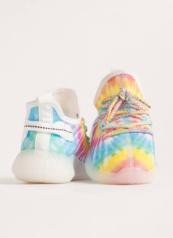 Play With Color Pull-On Tie-Dye Sneakers RAINBOW