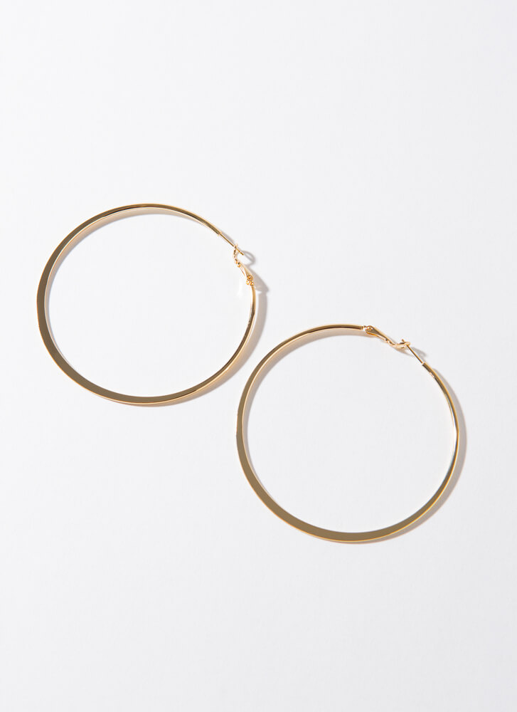 Big Impact Oversized Gold-Dipped Hoops GOLD