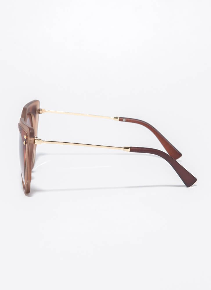Frame Of Mind Two-Toned Sunglasses TORT