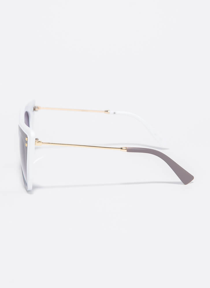 Frame Of Mind Two-Toned Sunglasses WHITE